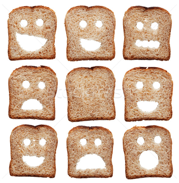 Bread slices with facial expressions Stock photo © lightkeeper