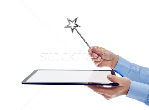 Digital age wizard concept Stock photo © lightkeeper