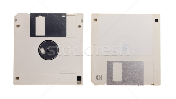 Obsolete technology - two used floppy discs isolated on white Stock photo © lightkeeper