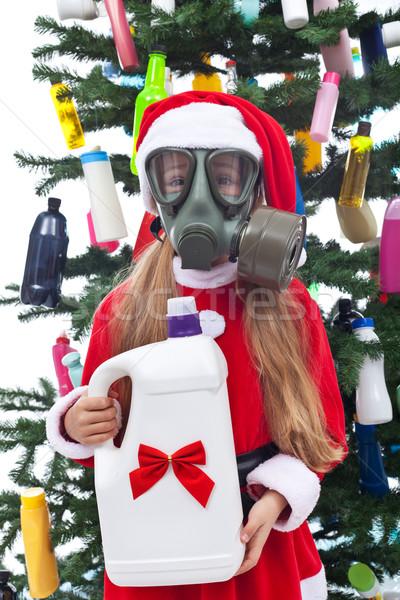 Tossico Natale ambientale giovane ragazza plastica presenti Foto d'archivio © lightkeeper