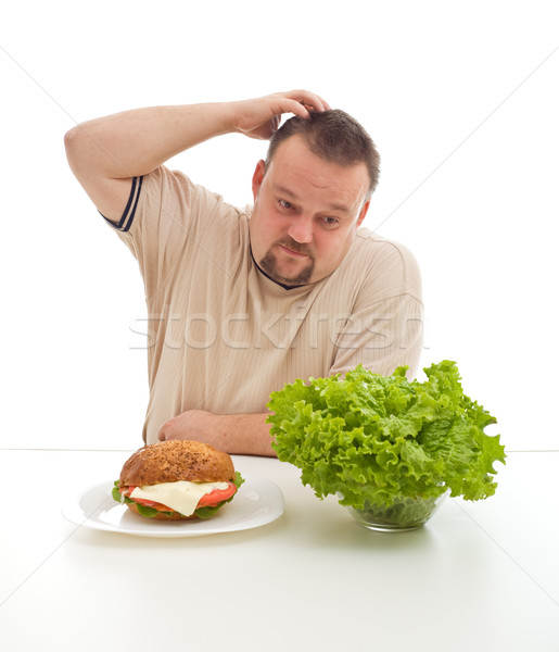 Diet choices - healthy or unhealthy Stock photo © lightkeeper
