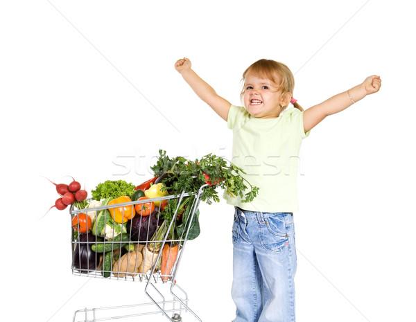 女の子 健康食品 強い 成長 少女 ストックフォト © lightkeeper
