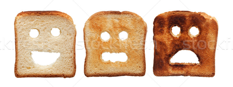 Toast bread differently burned Stock photo © lightkeeper