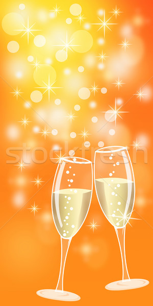 Champagne for christmas or new year Stock photo © lightkeeper