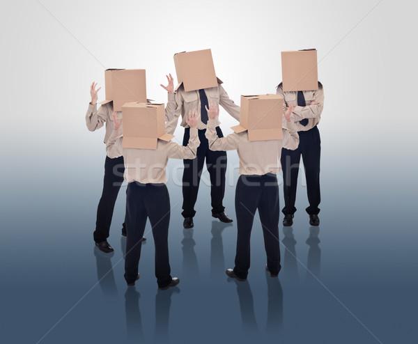 Brain storming businessmen Stock photo © lightkeeper
