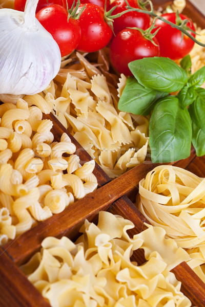 Pasta ingredientes oro amarillo ajo Foto stock © lightkeeper