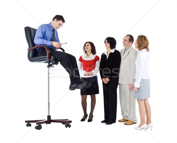 Business guru speaking to people Stock photo © lightkeeper