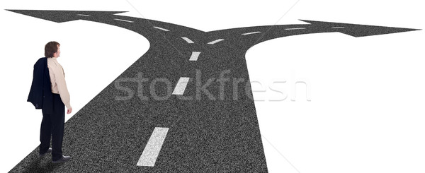 Business crossroads - decisions concept and strategic planning Stock photo © lightkeeper