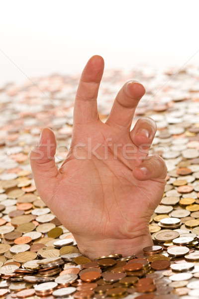 Debt and bad finances concept - drowning in money Stock photo © lightkeeper