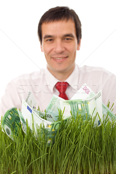 Confident businessman involved in green business Stock photo © lightkeeper