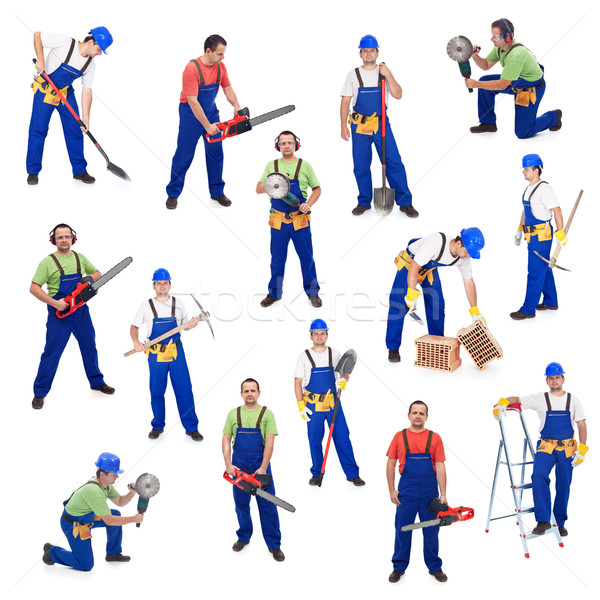 Stock photo: Workers from the construction industry