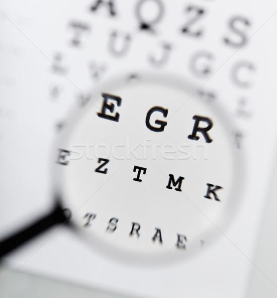 Eyechart and magnifier Stock photo © lightkeeper