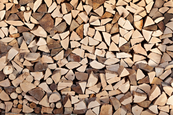 Tűzifa boglya egymásra pakolva fa textúra természet Stock fotó © lightkeeper