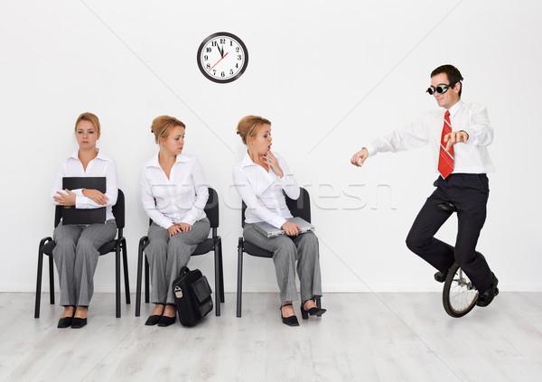 Alkalmazottak különleges képességek keresett állásinterjú férfi Stock fotó © lightkeeper