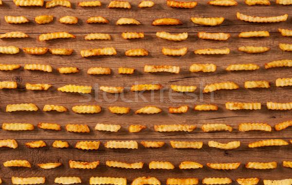 Frites françaises alimentaire fond table modèle Photo stock © lightkeeper