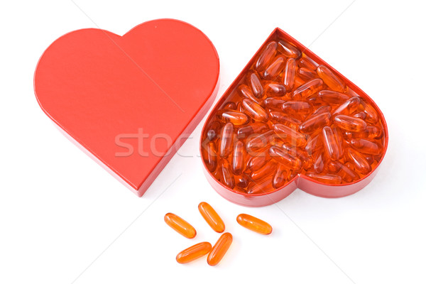 Heart friendly fish oil capsule Stock photo © lightkeeper
