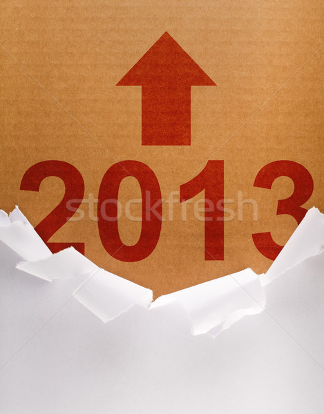 Unpacking the new year 2013 Stock photo © lightkeeper