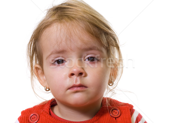 Little girl with a severe flu Stock photo © lightkeeper