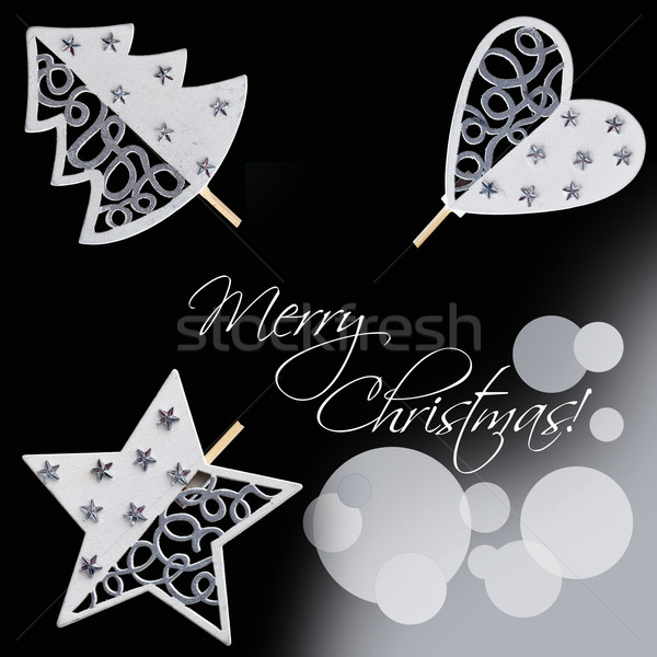 Christmas decorations design elements Stock photo © lightkeeper