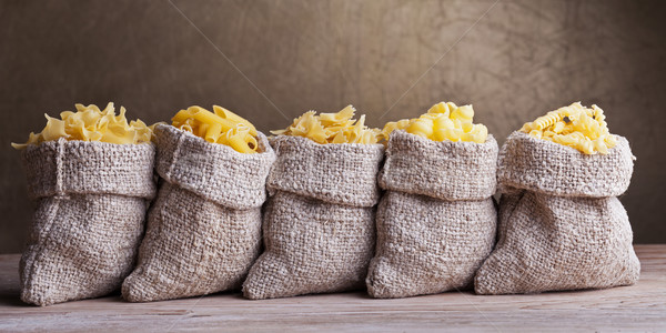 Pasta variety in small sacks Stock photo © lightkeeper