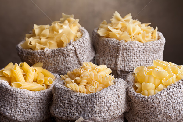 Pasta jute zakken traditioneel zak Stockfoto © lightkeeper