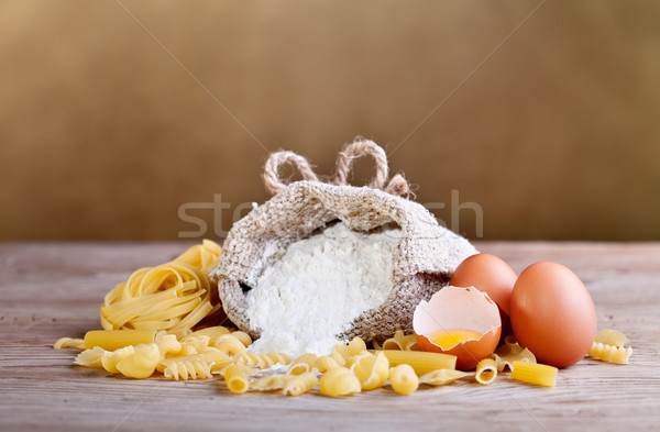 Pasta ingredients Stock photo © lightkeeper