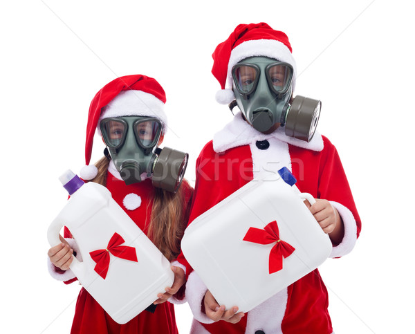 Plastic gifts for christmas - environment concept Stock photo © lightkeeper