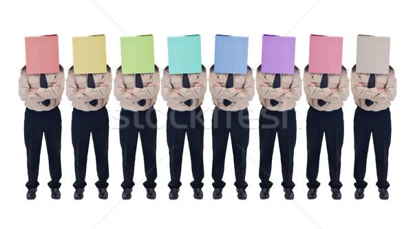 Ilusão escolha falsificação diversidade cabeça Foto stock © lightkeeper