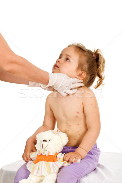 Little girl with contagious disease at the doctors  Stock photo © lightkeeper