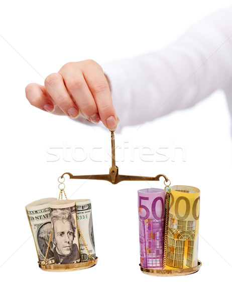 Currency exchange rates and currency wars concept Stock photo © lightkeeper