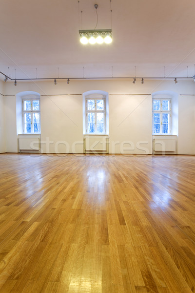 Empty art gallery with blank walls Stock photo © lightkeeper