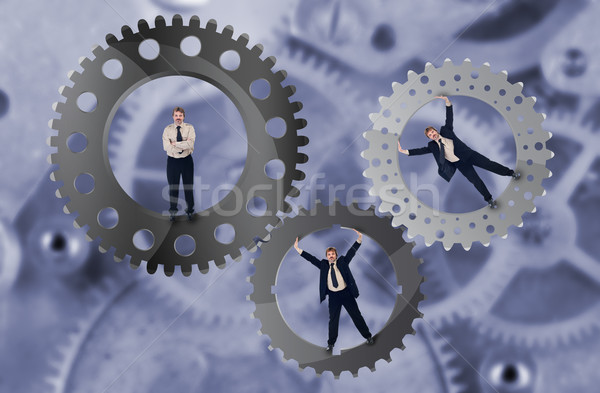Stock photo: Teamwork and team effort concept
