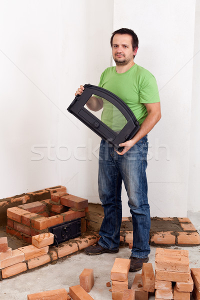 Building a stove for heating Stock photo © lightkeeper