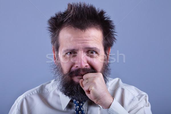 Garip bakıyor tuhaf adam endişeli bir şey Stok fotoğraf © lightkeeper