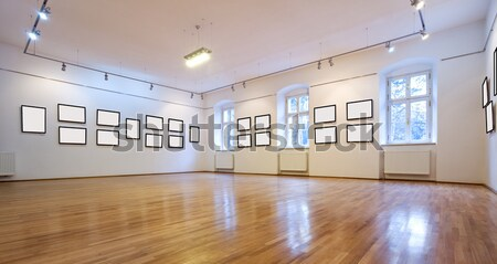 Art gallery with different pictures Stock photo © lightkeeper