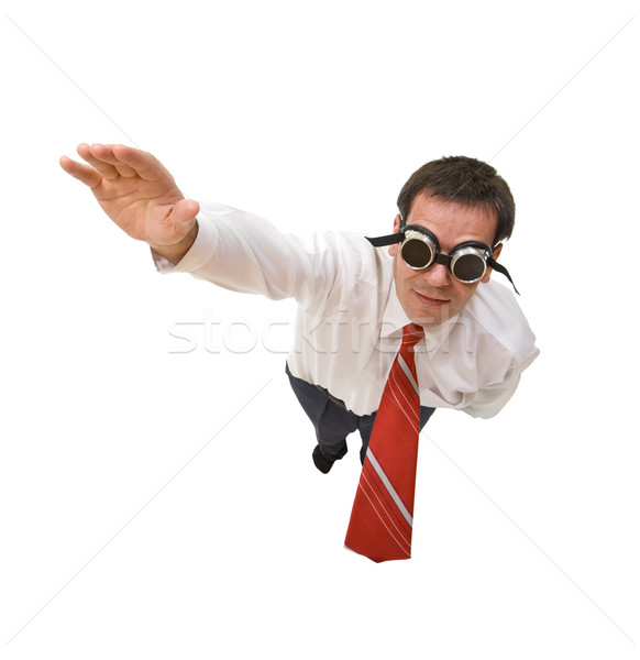 Superman businessman flying Stock photo © lightkeeper