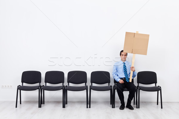 Businessman protesting alone Stock photo © lightkeeper