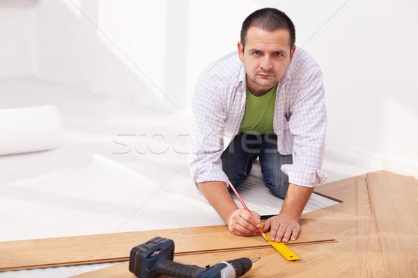 Installing laminate flooring Stock photo © lightkeeper
