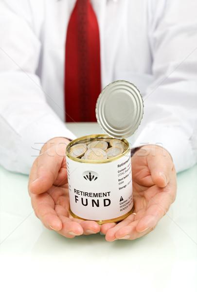 Ruhestand Fonds Senior Hände halten geöffnet Stock foto © lightkeeper