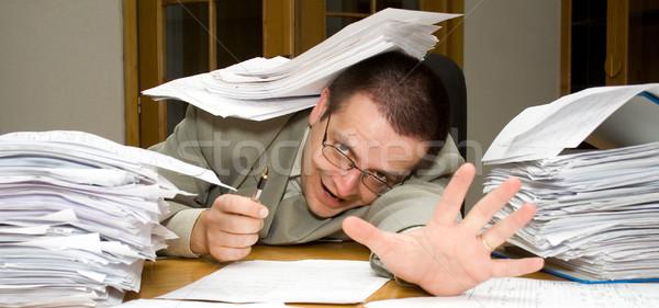 заседание крайний срок документы отчаянный бизнесмен помочь Сток-фото © lightkeeper