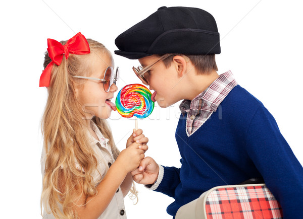 Stock photo: Love is sharing