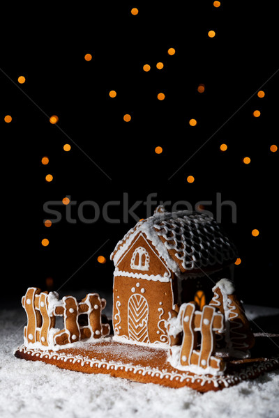 Gingerbread house under starry sky Stock photo © lightkeeper