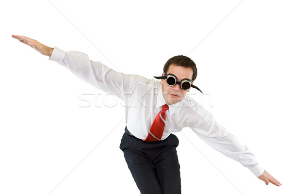 Businessman going down Stock photo © lightkeeper