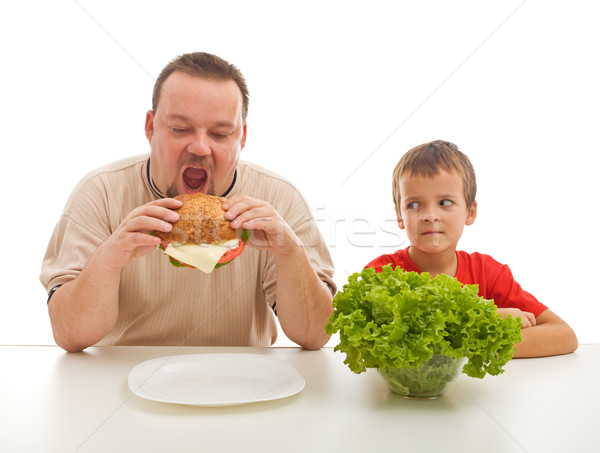 Healthy eating - teaching by example Stock photo © lightkeeper