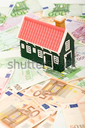 House on money field or foundation Stock photo © lightkeeper