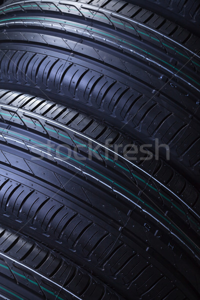 Brand new car tires texture Stock photo © lightkeeper