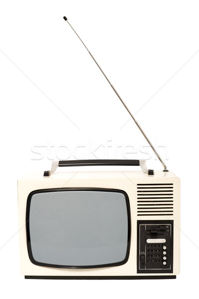 Old fashioned television set Stock photo © lightkeeper