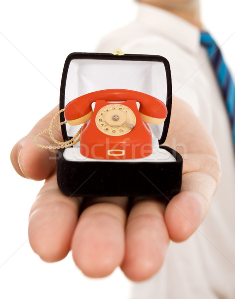 Business values - commitment to good communication Stock photo © lightkeeper