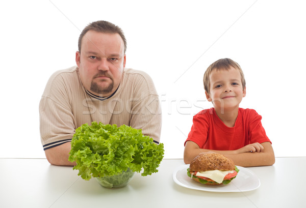 Healthy diet - teaching by example might be hard Stock photo © lightkeeper