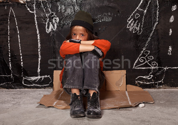 Orphan child on the street concept Stock photo © lightkeeper